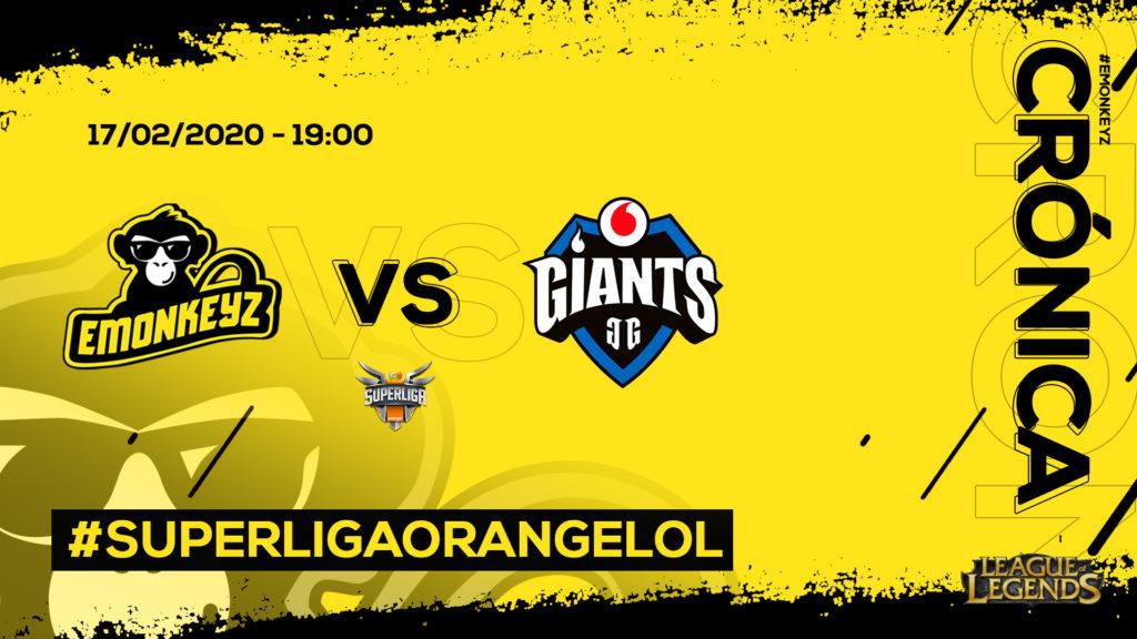 eMonkeyz vs. Giants Gaming | #SuperligaOrangeLoL9