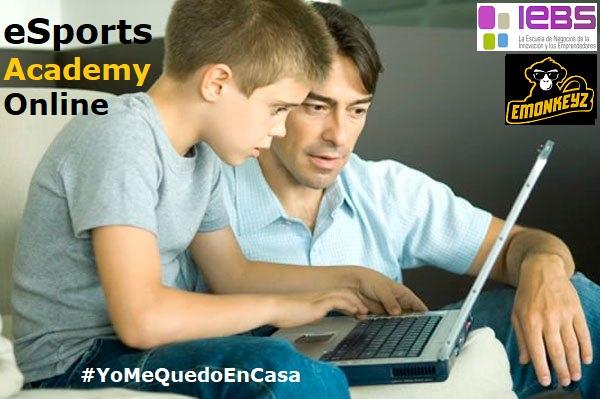 #YoMeQuedoEnCasa con la eSports Academy de IEBS e eMonkeyz